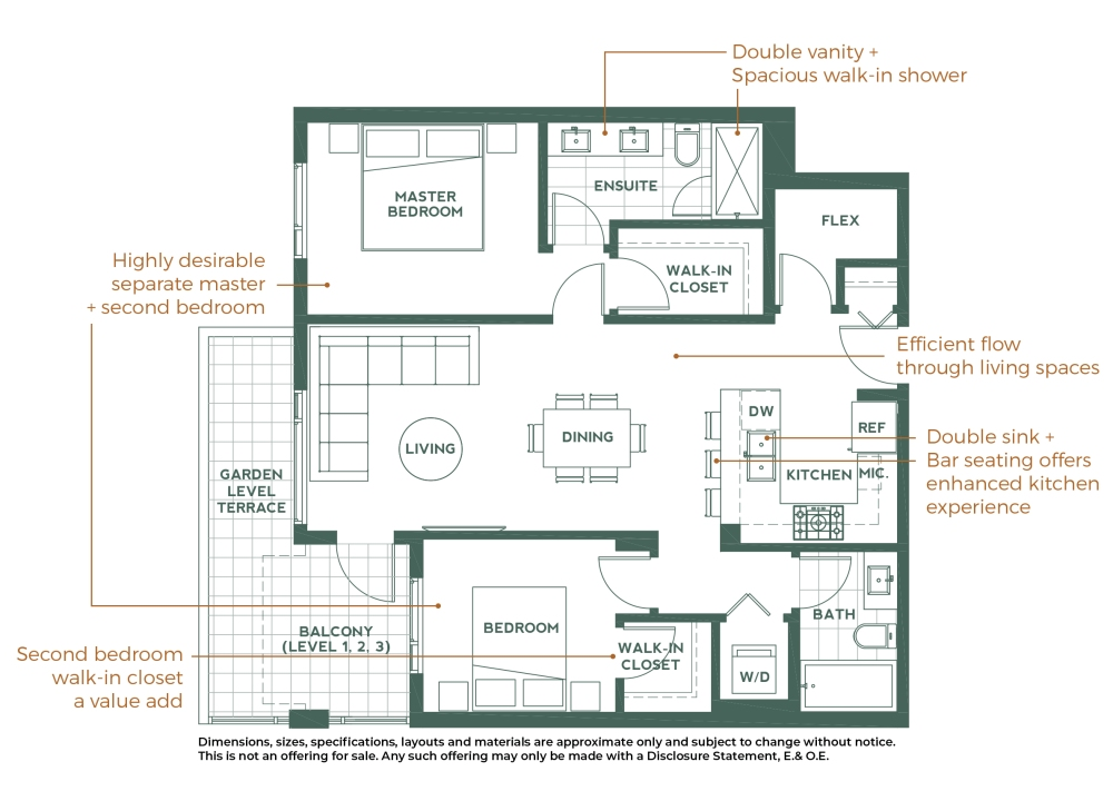 Creston Floor Plan Features