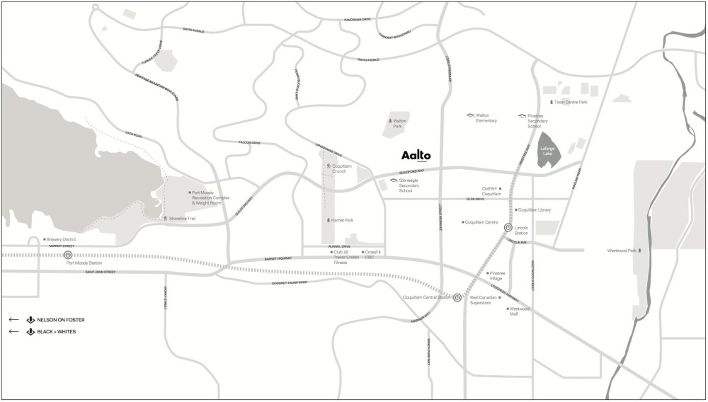 Aalto Coquitlam - location