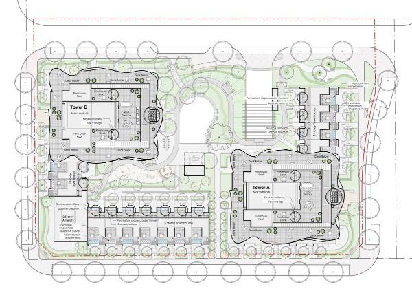 Linea Surrey - site plan